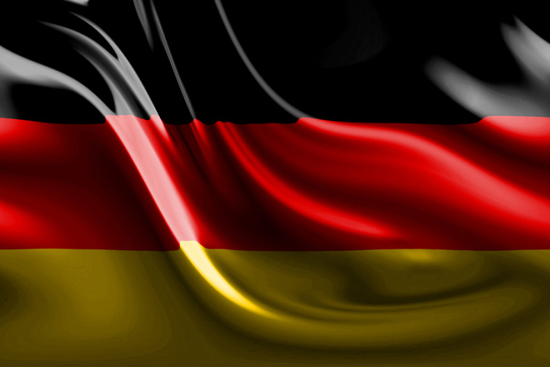 Abstract German flag waving in the wind